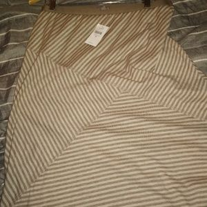 J.  Jill. NWT beige striped midi skirt